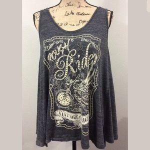 Be Vocal USA sleeveless shirt rough rider bling LG